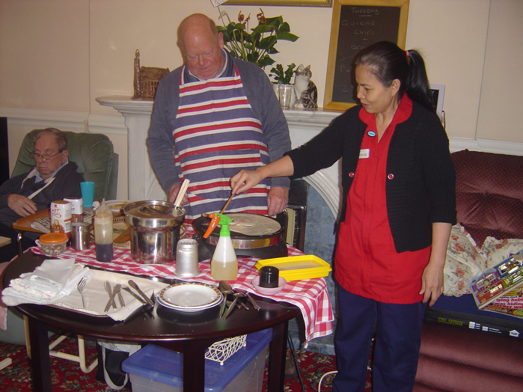 Pancake Day at Ashlands Nursing Home